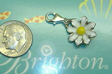 Brighton small flower daisy sunny days enamel charm lobster claw clip clasp NEW
