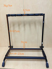 Haze GS014 Metal Structure 5-Guitar-Stand/Storage & Display Rack,Black,Foldable