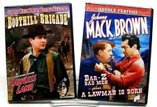 2 NEW SEALED JOHNNY MACK BROWN DOUBLE FEATURE WESTERNS DVD LAWLESS LAND MORE WO