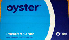 Oyster Card Unregistered ready to top up and go .W/Wallet Holder