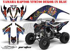 Amr racing Graphic Kit ATV yamaha raptor 125/250/350/660/700 Ed-Hardy pirates B