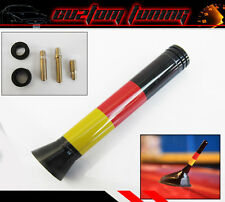 GERMAN FLAG 3'' SHORT ANTENNA FOR VW JETTA GOLF GTI RABBIT R32 R34 R35