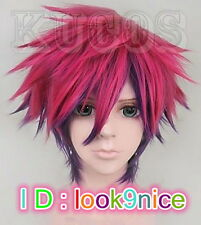 No Game No Life Sora Short Anime Cosplay Costume Full Wig