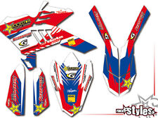 Beta rr 125 350 400 450 Factory Enduro Graphic Kit Décor autocollant rock star