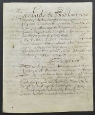 "PARCHEMIN  27 septembre 1649    "" DOCUMENT a IDENTIFIER  NORMANDIE ""  PARCHMENT"""