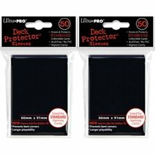 ULTRA PRO CARD SLEEVES Black Deck Protectors (100) MTG / POKEMON