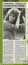 Coupure de presse Clipping 1988 Kate Capshaw   (1/2  page)