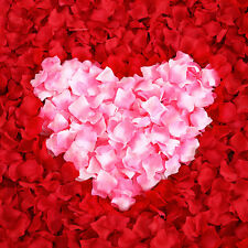 1500 x Red Pink White Silk Flower Rose Petals Romantic Wedding Party Decoration