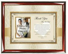 Wedding Thank You Parents Picture Frame From Groom Son or Bride Daughter Photo