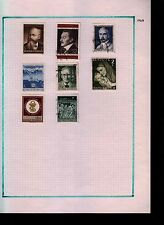 Austria 1968 Album Page Of Stamps #S846