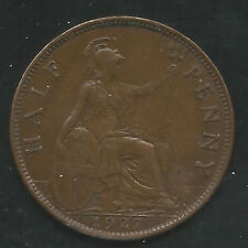 Great Britain, 1927, 1/2 Penny, Bronze, Km#824, Choice Extra Fine