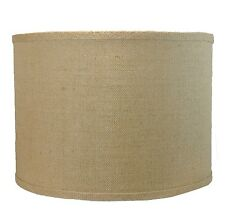 "Urbanest Burlap Drum Style Lamp Shade 14""x14""x10"" Lampshade Spider Fitter"