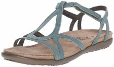"""New! Woman's Sea Green Naot """"Dorith"""" Gladiator Leather Sandals Size 10 EU 41"""