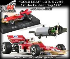 Policar CAR02A Lotus 72 J.Rindt 1970 Gold Leaf - use on Scalextric, Carrera etc