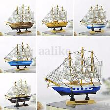 New Handmade Wooden Model Sailing Boat Tall Ship Cruiser Home Decoration Craft