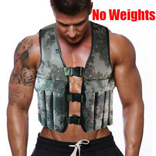 44LB 20KG Adjustable Camo Workout Weight Weighted Vest Exercise Training Fitness