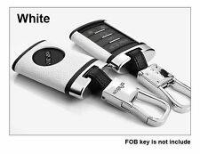 White Leather Remote Key Case Shell For CADILLAC XTS CTS SRX DTS​ FOB Key Cover