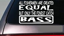 "Bass all people equal 6"" sticker *E603* fishing rod reel line bait casting net"
