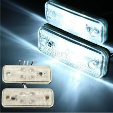 2x 12/24V 4 LED White Side Marker Lights Indicator Blinker Lamp Truck Trailer E8