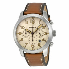 Fossil 'Pilot 54' Chrono Brown Brown Distressed-Leather Strap Men's Watch FS5144