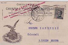 # NAPOLI: testatina- CAVARA PADOVANI- con pubblicita' FERNET BRANCA