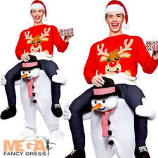 Carry Me Snowman Adults Fancy Dress Christmas Festive Mens Ladies Costume Outfit