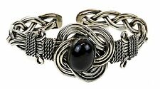 Boho Statement Black Stone Design Cuff Metal Victorian Indian Wrist Bracelet