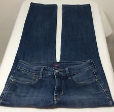 Not Your Daughter's Jeans NYDJ Straight Leg Denim Jeans Size 0 P Dark Wash