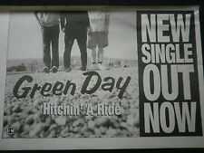 GREEN DAY - HITCHIN A RIDE - B/W ADVERT - 7 x 11 inch