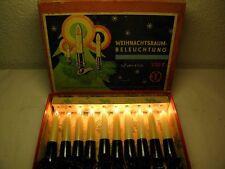 Ancienne Guirlande lumineuse 10 pièces DDR Sapin de noël éclairage Chandelles