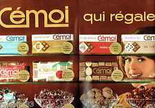 PUBLICITE ADVERTISING 066  1964  les chocolats Cémoi  (2p)