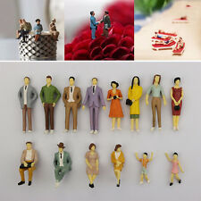 1 pcs HO scale 1:87 ABS  Painted People / seated passenger Random Model Figures