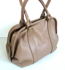 VTG COACH TAN/WHEAT THICK LEATHER MEDIUM SATCHEL # 0725-122/VERY RARE/EXCELLENT!