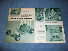 "1960 Go Kart Vintage Article ""Best Appearing Kart"" McCulloch Power Spalding"