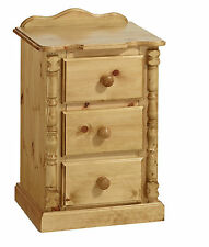 PINE FURNITURE ASHBOURNE 3 DRAWER BEDSIDE CABINET SPECIAL PRICE FOR TWO