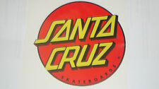 "2 X  SANTA CRUZ  STICKERS DECALS 4"" MOTOR SPORTS BIKEHELMETS  IOM TT RACING CARS"