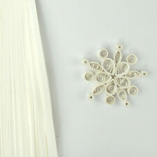100 quilling self adhesive paper strips in snowflake white - 5mm  wide