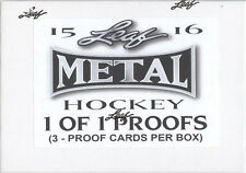 2015-16 Leaf Metal Hockey PROOFS Sealed HOBBY BOX (3 1-of-1 Proofs per box!)
