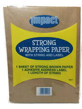Strong Brown Wrapping Paper with String & Label  Kraft Packing Posting Wrap Pack