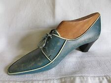 UNUSUAL VINTAGE FRENCH ORIGINAL SALESMAN PROTOTYPE SHOE ON BLOCK RETRO DECOR 40s