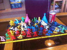 Large Vintage Very Rare old Cowboys and Indians Toy Soldiers Set TeePee Horses