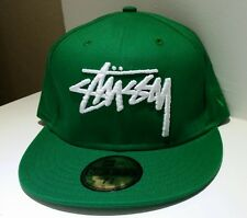"New Era 59FIFTY x Stussy ""Stock"" 7 3/8 green fitted cap NEW"