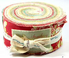"Strawberry Fields Fig Tree Quilts Moda Fabric Jelly Roll 2.5"" Strips 20160JR"