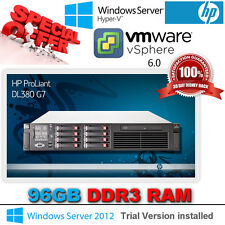 HP Proliant DL380 G7 2x 2.26Ghz Hex Core L5640 Xeon 96GB DDR3 P410i 450GB SAS