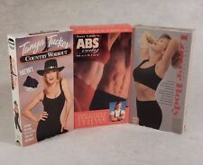 3 Workout VHS : Tony Little's ABS Only, Jane Fonda Lower Body, Tanya Tucker