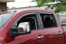 In-Channel Vent Visors for a 2016 - 2017 Nissan Titan XD Crew Cab