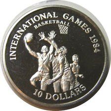 elf Liberia 10 D 1984 International Games Basketball  Proof