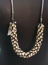 CHICO'S Chicos $108 CONVERTIBLE NECKLACE + BRACELET NWT ADJUST LENGTH GEMSTONE
