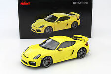 Porsche Cayman gt4 racing amarillo 1:18 Roadster