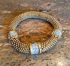 """""""REAL COLLECTIBLES"""" BY ADRIENNE DIAMONITE STRETCH BRACELET SPECTACULAR!!!"""